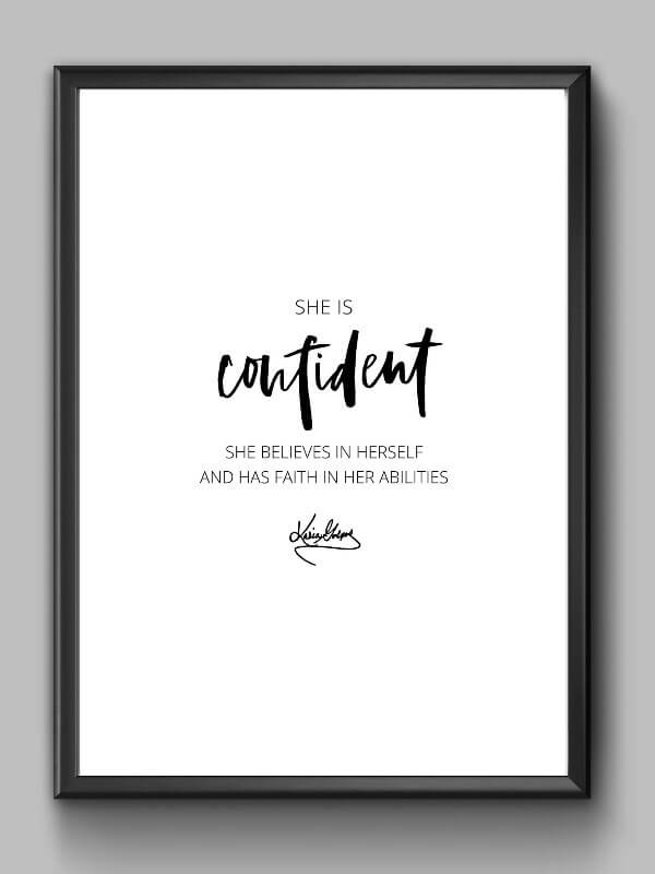 Inspirational Print Confidence