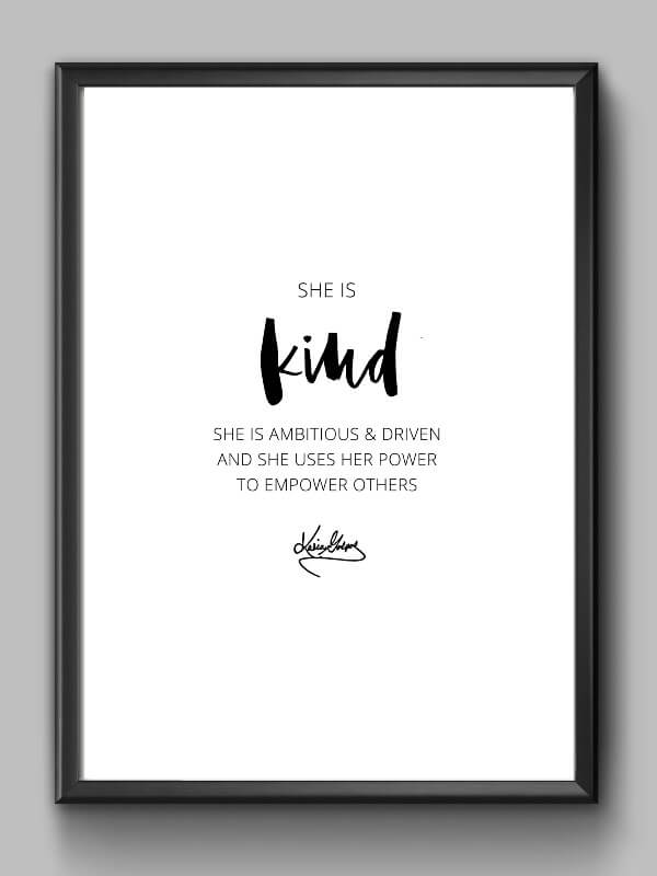 Inspirational Print Kindness