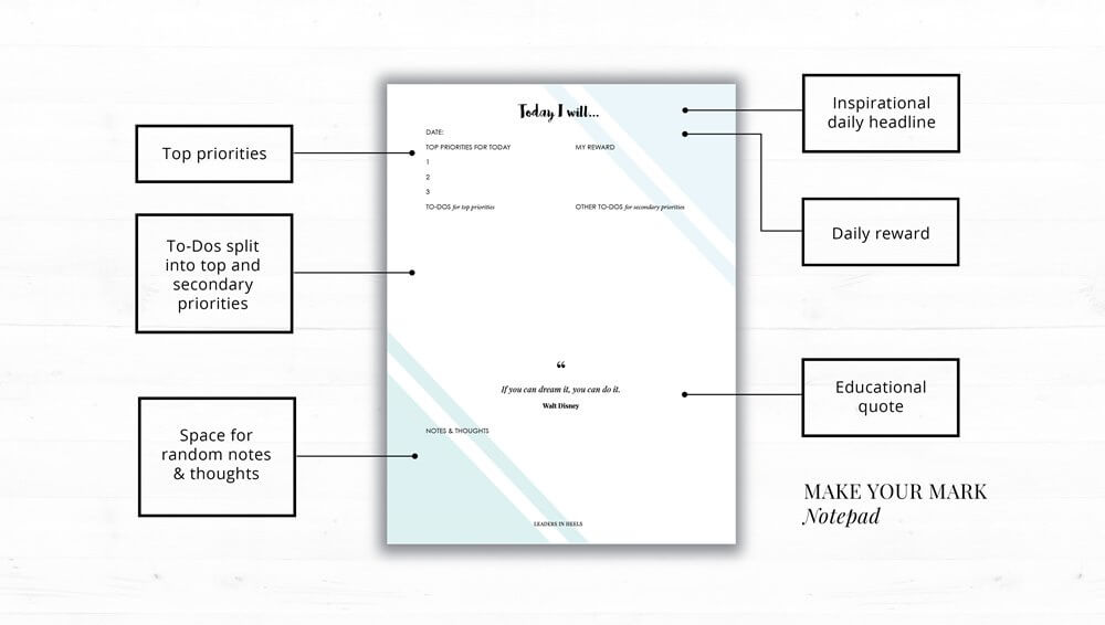 Make Your Mark Daily Planner Pad