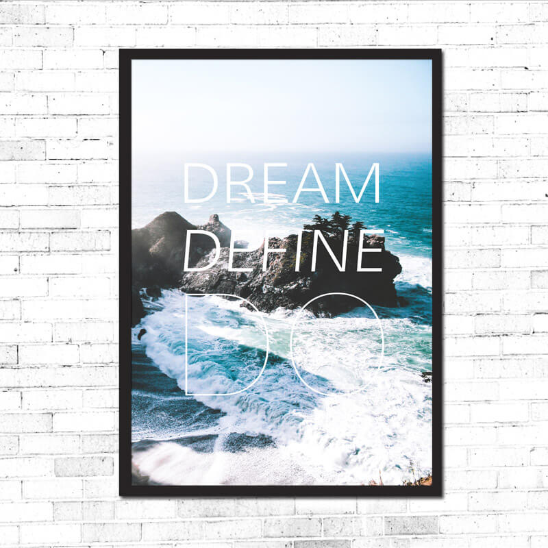 Dream-Define-Do-on-the-wall-black-frame