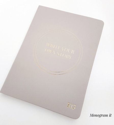 Write Your Own Story Journal with Monogramming