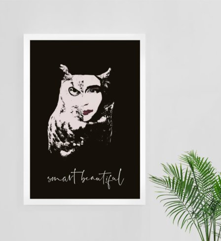 Smart Beautiful Art Print Leaders in Heels