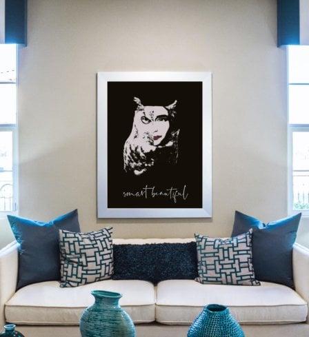 Smart Beautiful Art Print Leaders in Heels