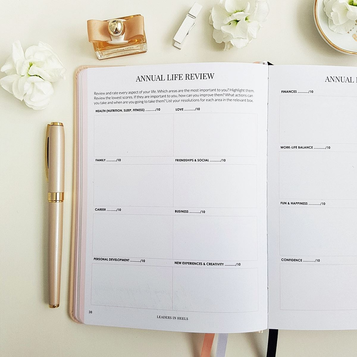 The Leaders in Heels Planner Make It Happen - Annual Life Review