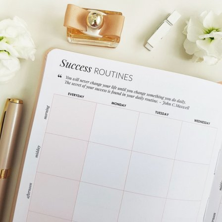 The Leaders in Heels Planner Make It Happen - Success Routine