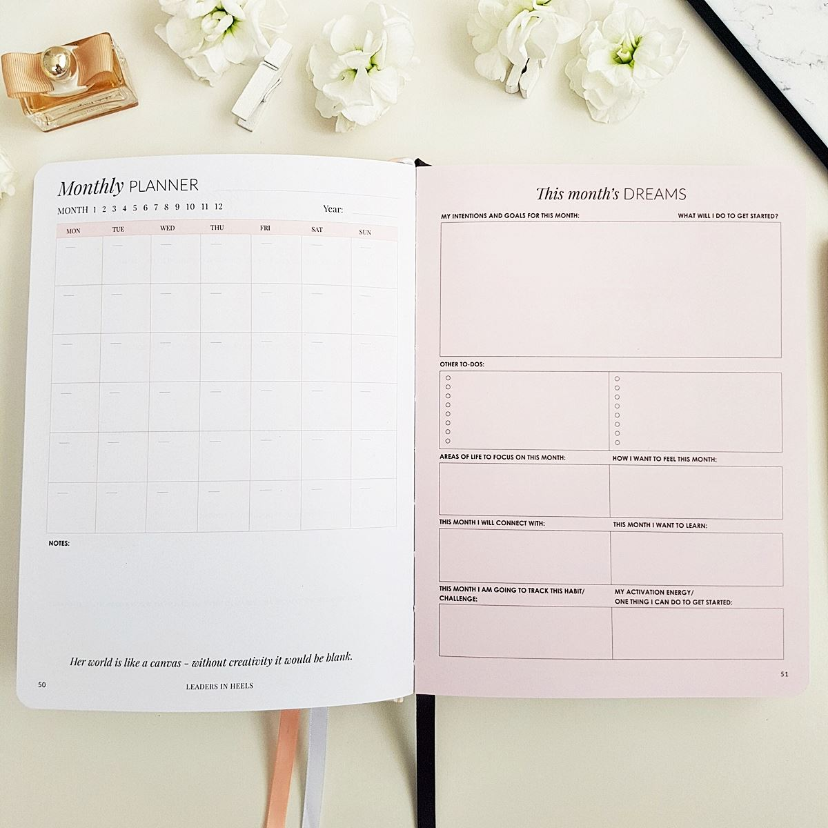 The Leaders in Heels Planner Make It Happen - Monthly Planner