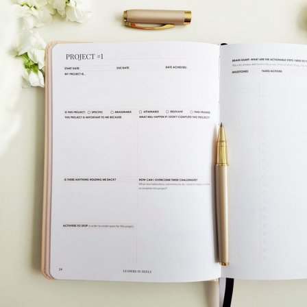 The Leaders in Heels Planner Make It Happen - Project