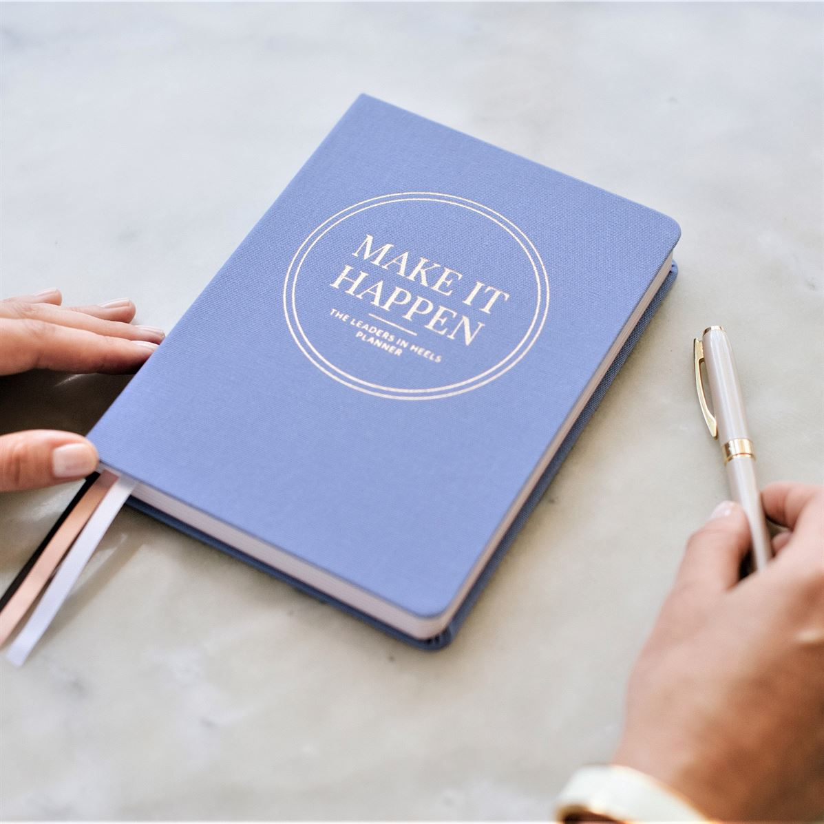 Leaders in Heels Planner – Make It Happen – Cornflower Blue