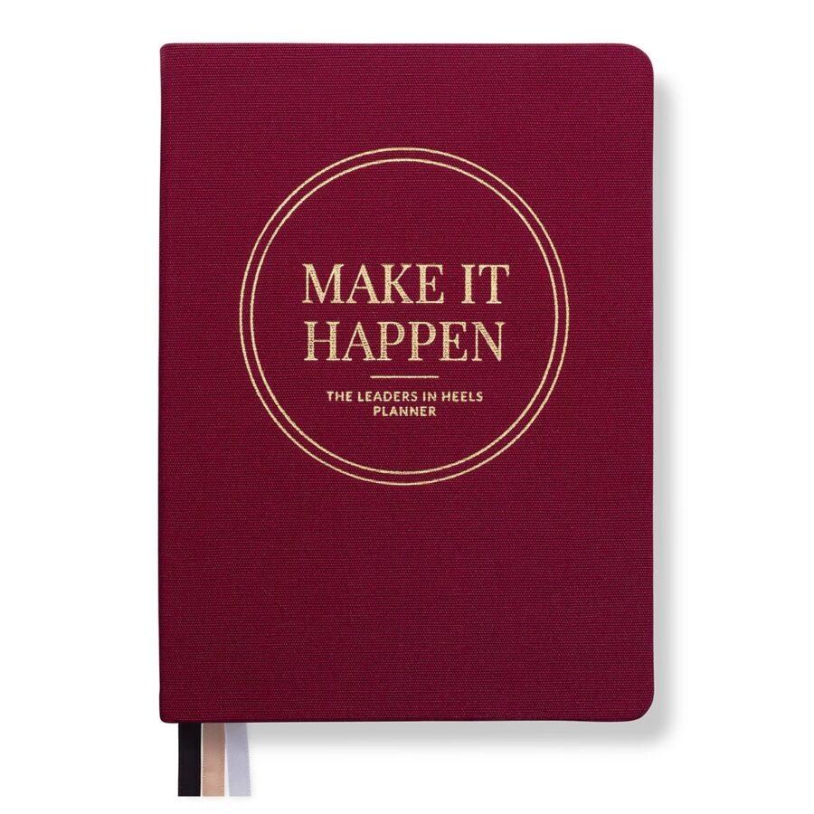 Leaders in Heels Planner – Make It Happen – Rich Burgundy