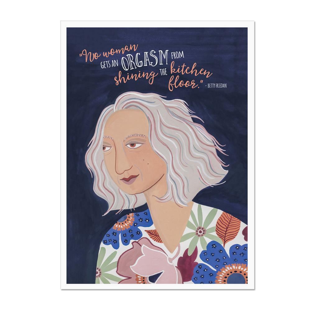 Betty Friedan The Ultimate Feminist Print
