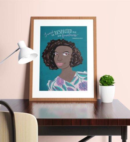 Chimamanda Ngozi Adichie Respect Print
