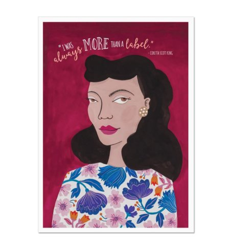 Coretta Scott King More than a Label Art Print