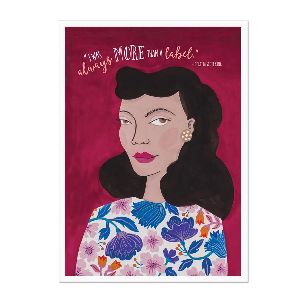 Coretta Scott King More than a Label Art Print
