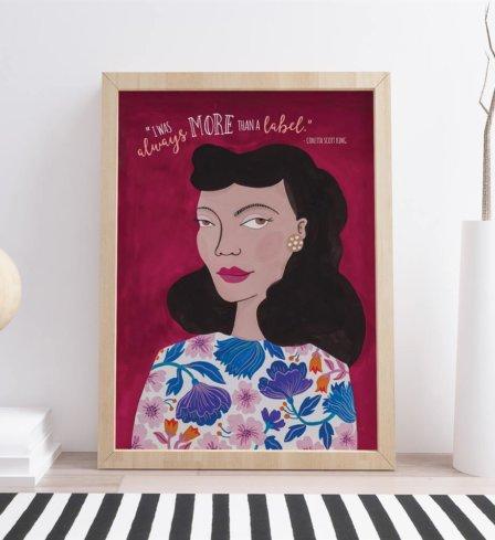 Coretta Scott King More than a Label Art Print2