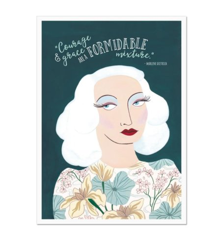 Marlene Dietrich Courage and Grace Art Print
