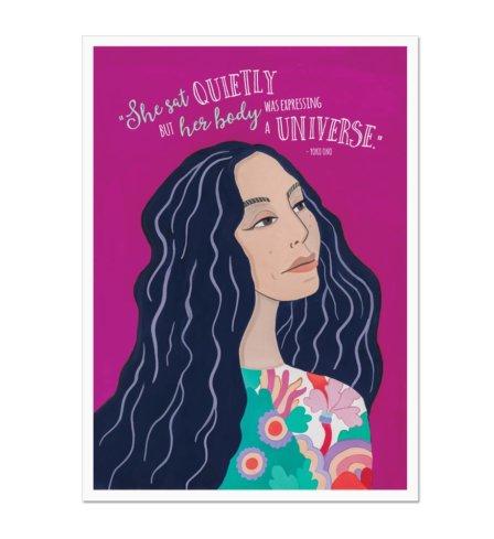 Yoko Ono Expressing a Universe Art Print
