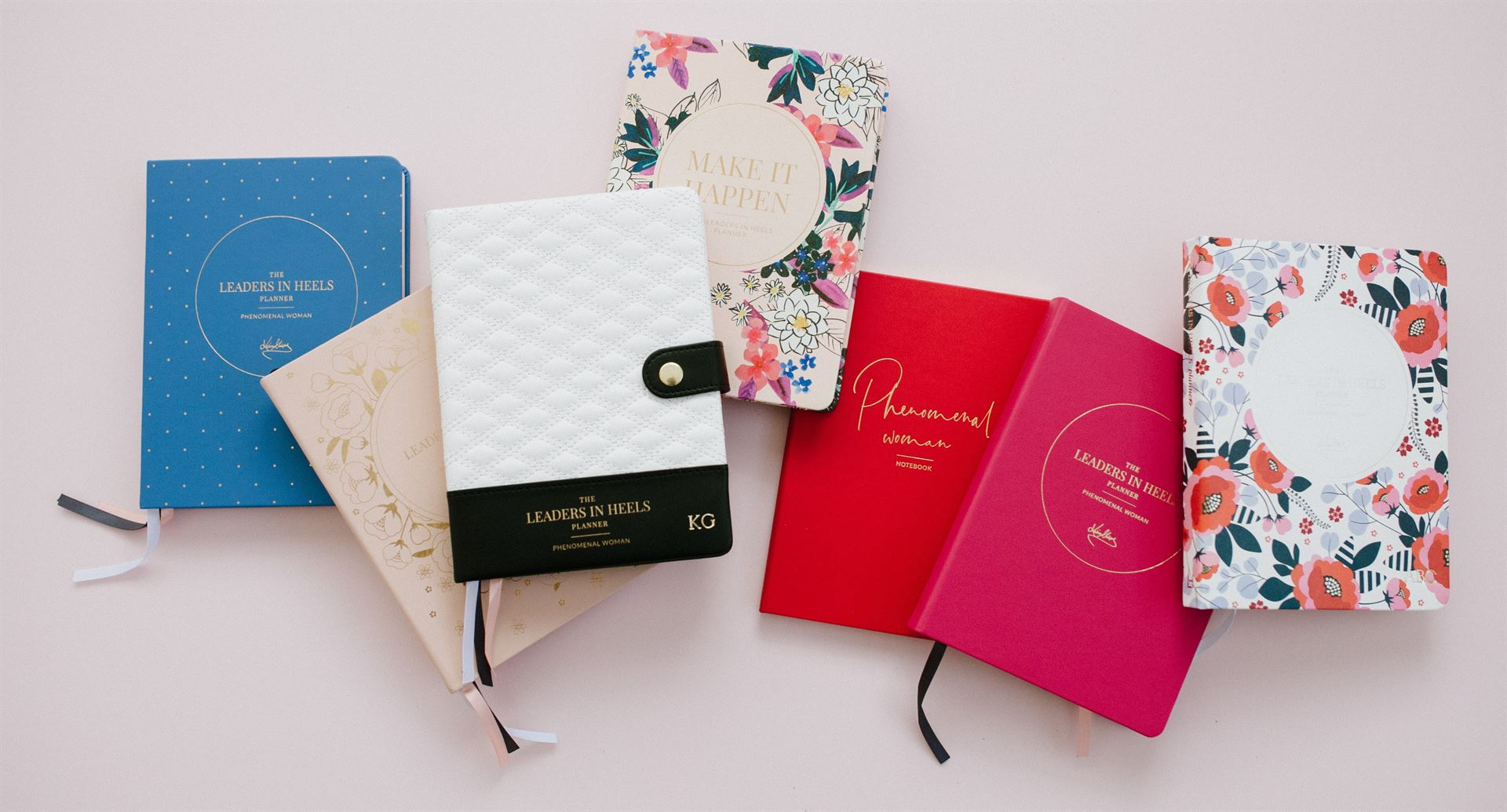 Inspirational notebooks, journals, planners, stationery