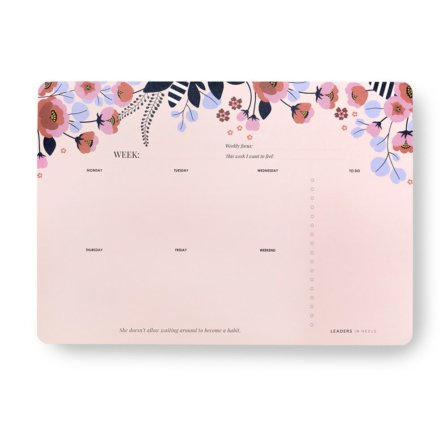 Phenomenal Woman Weekly Desk Planner