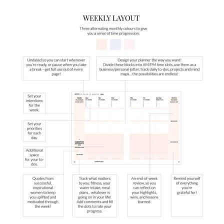 weekly layout Phenomenal Woman Planner