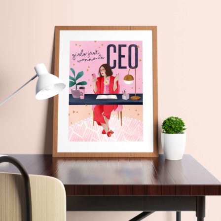GHirls Just Wanna Be CEO Print