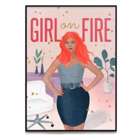Girl On Fire Print