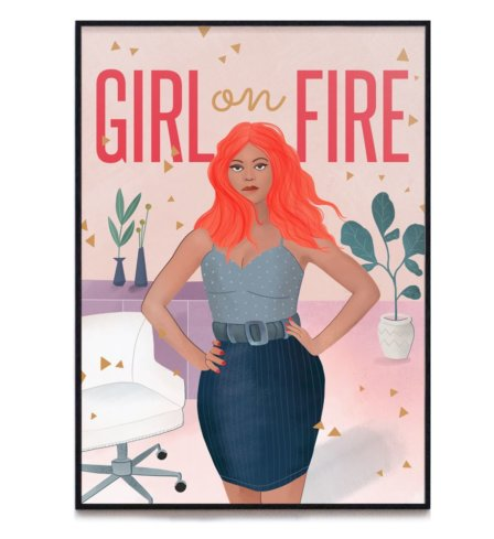 Girl On Fire Print