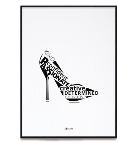 Leaders in Heels Traits Print V2