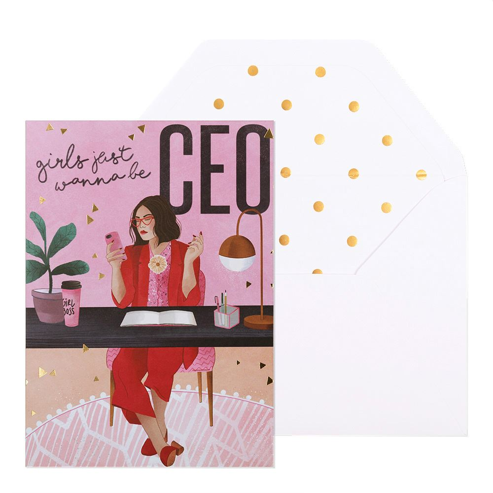 Girls Just Wanna Be CEO Greeting Card