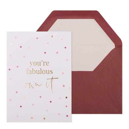You're Fabulous inspirational Greeting Card