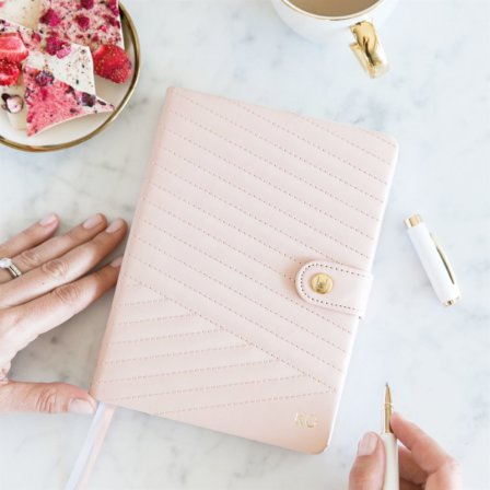 Leaders in Heels Planner Chevron-Quilted Blush